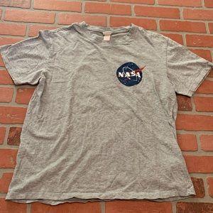 H&M Grey NASA Graphic Tee Short Sleeve Shirt